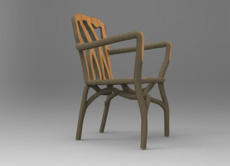 molded root grown chair