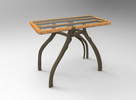molded shaped table design