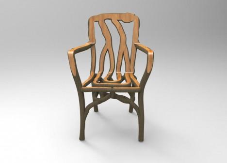 molded tree furniture design