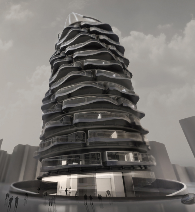 rotating tower design