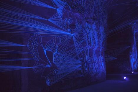String Lights Installation : Stellar Caves: Illuminated Underground String Installation Urbanist