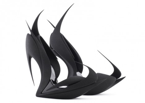 spiked 3d printed shoe
