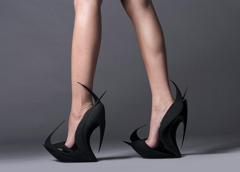 spikey zaha hadid shoe