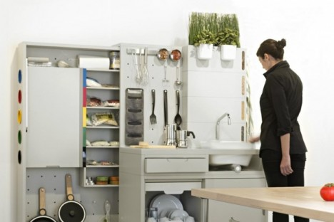 temporary futuristic kitchen design