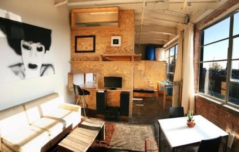 tiny apartments custom plywood 1