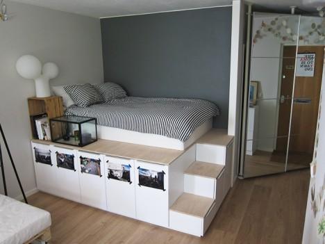 tiny apartments ikea platform bed