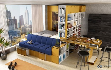 tiny apartments tetran cubes 1