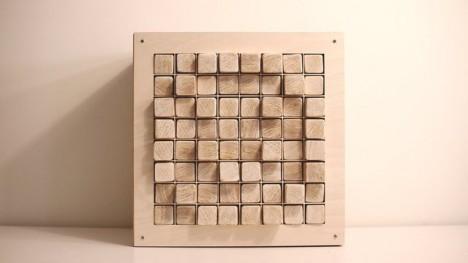 wood gadgets pixel display