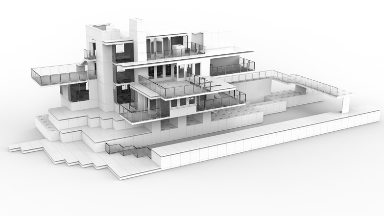 architectural model blocks design