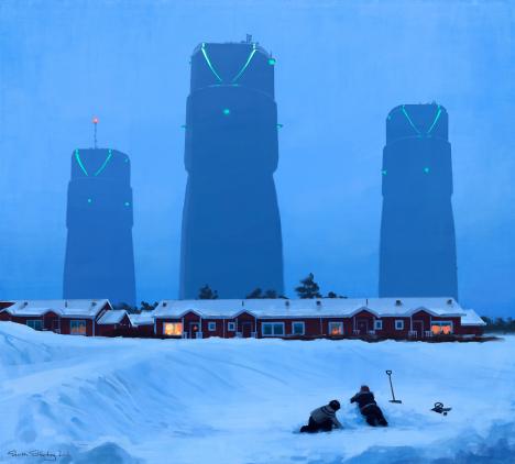 dystopian scenes buildings