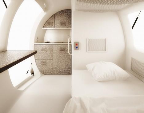 ecocapsule alternative interior finishing