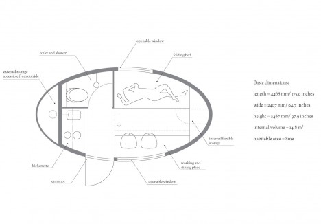 ecocapsule floor plan diagram