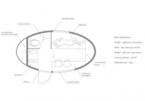 ecocapsule floor plan diagram