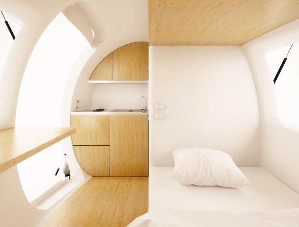 ecocapsule interior design finishings