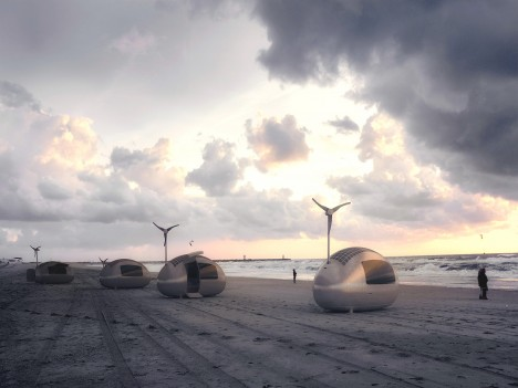 ecocapsule on beach