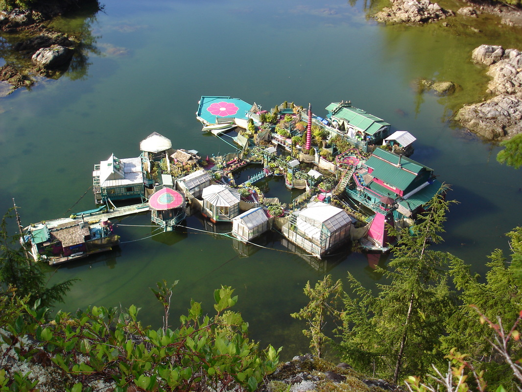 Floating Island Self Sufficient Home Produces Food