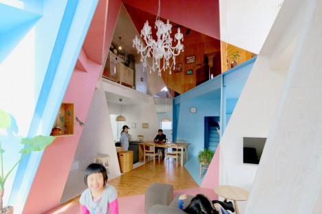 japan asymmetric plywood interiors 2