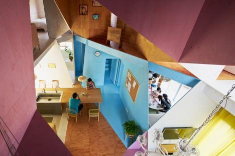 japan asymmetric plywood interiors