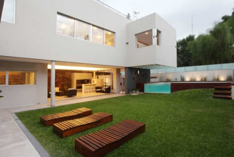 modern pool wooden deck 3