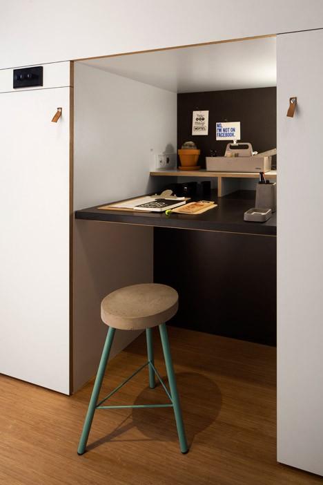 modular hidden workstation desk