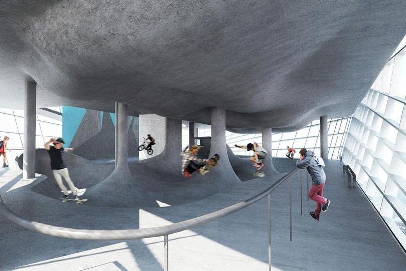 multi story skate park