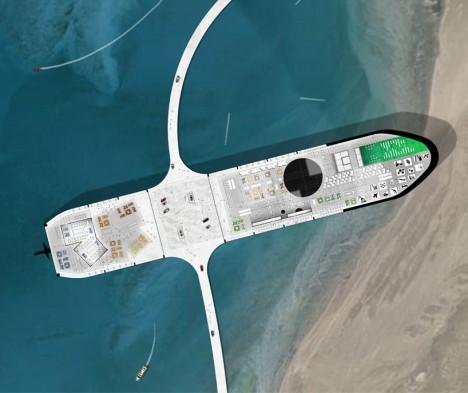 oil tanker aerial plan