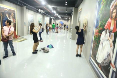 playful modern art space