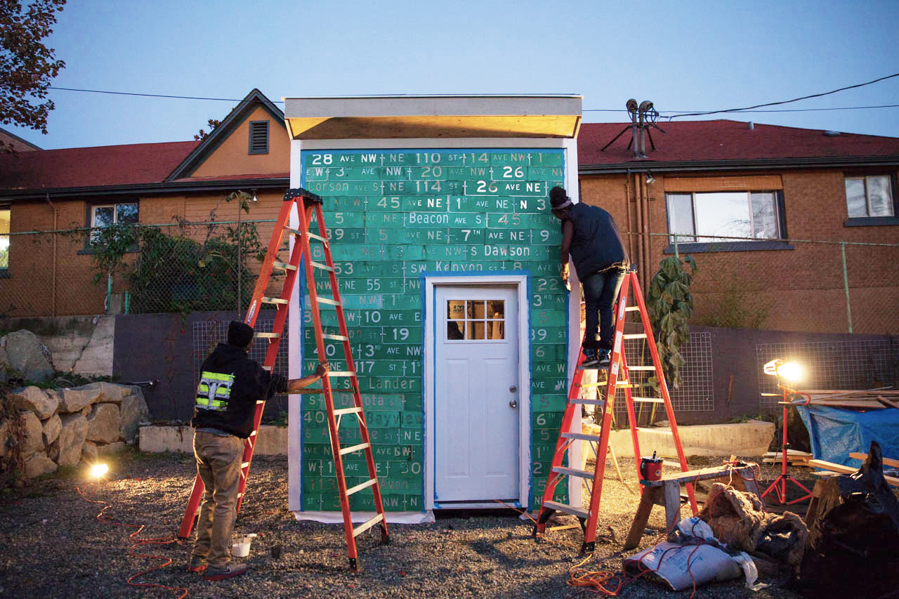 Mobile Village Seattle Teens Build Micro Homes For