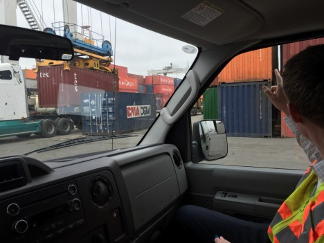 shipping container port tour