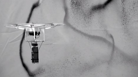 spray painting drone