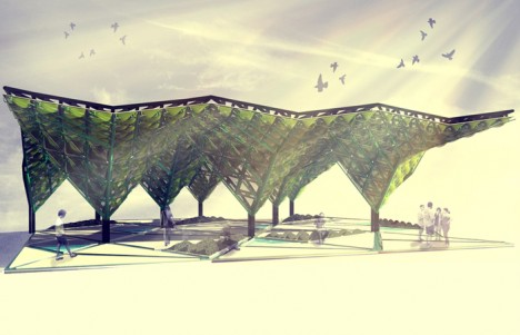 A hybrid of architectural and ecosystem design the canopy is made to adapt its features based on manual as well as environmental inputs letting users ... & Urban Algae Canopy Produces a Forestu0027s Worth of Oxygen Daily ...