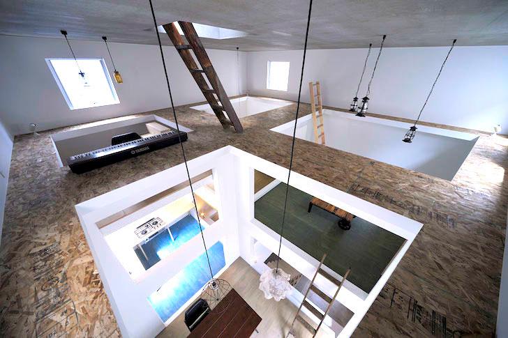 3 top floor unfinished space ninja house
