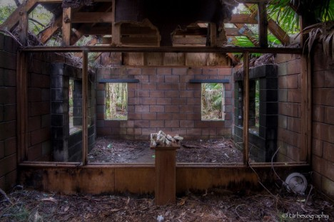abandoned chapel interior