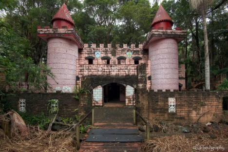 abandoned park fairy castle