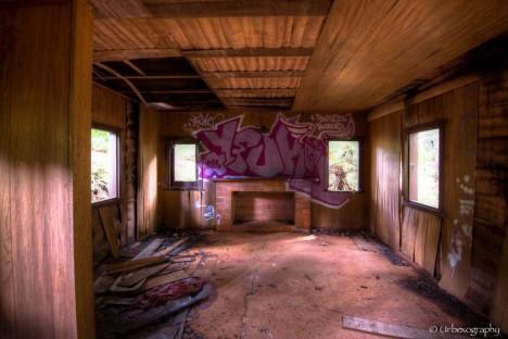 abandoned park graffiti tag