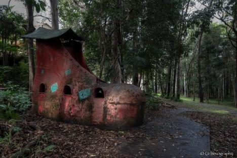 abandoned theme park shoe