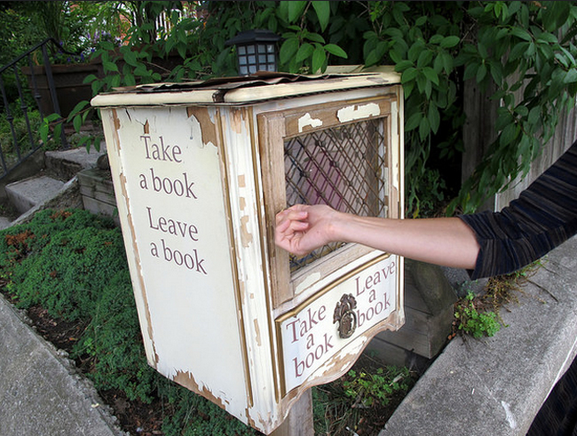 antique style little free library