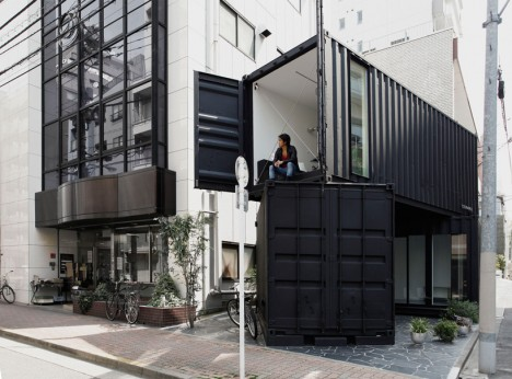 converted shipping containers corner tokyo
