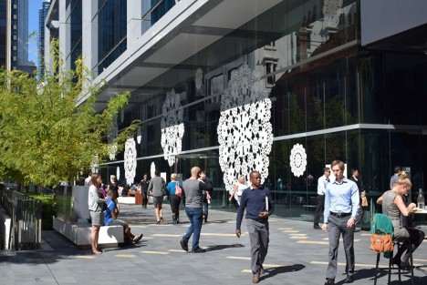 doilies public installation