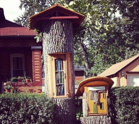 fairy house little free library