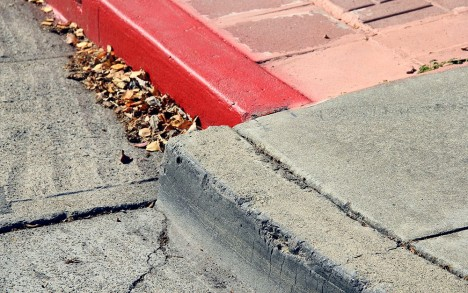 fault creep curb alignment