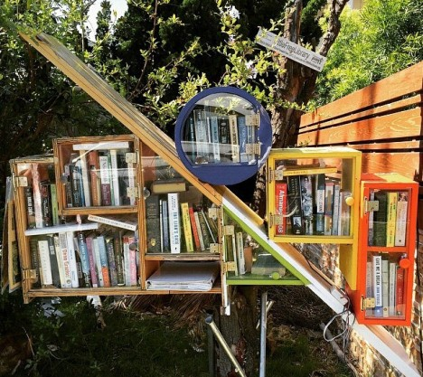 geometric little free library