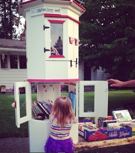 lighthouse little free library