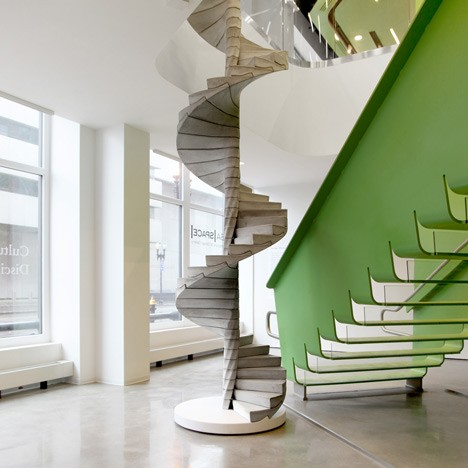 modern stairs helix