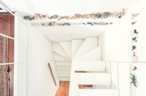 modern stairs partially suspended 2