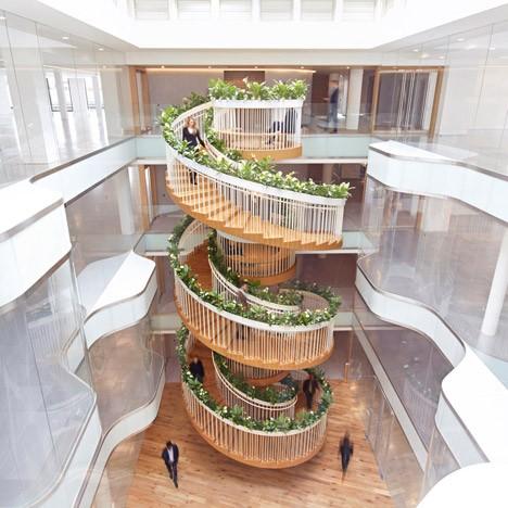 Bon Modern Stairs Planted Circle