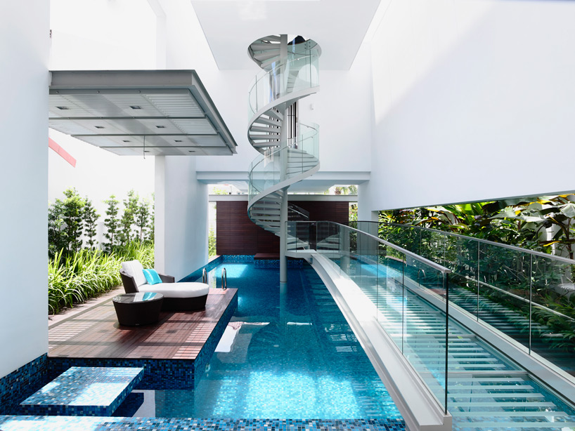 Modern Stairs Pool Bridge