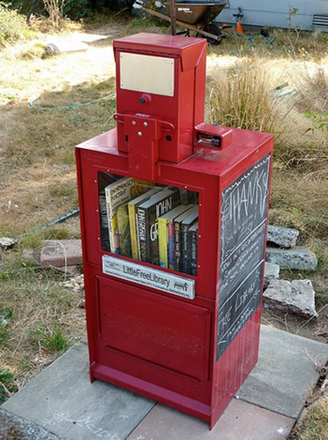 newspaper box little free library