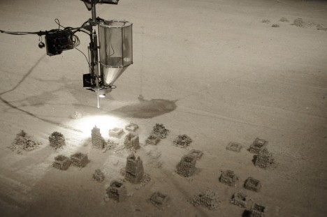 robot art sand sculptures 2