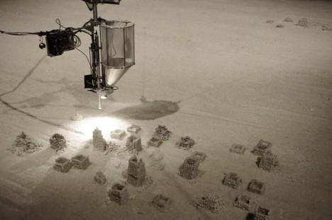 robot art sand sculptures 2